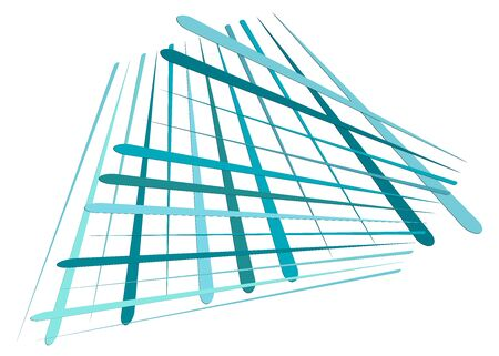 Grid, mesh with dynamic lines. Intersecting stripes. Irregular grating, lattice texture. Interlocking, criss-cross abstract geometric illustration Banco de Imagens - 130044450
