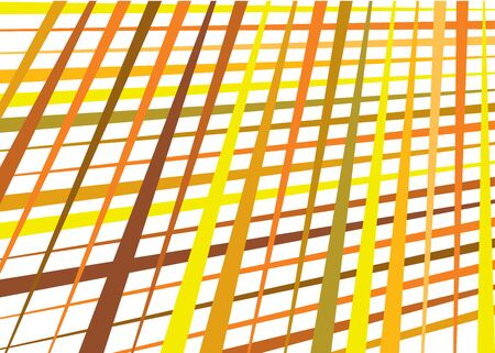 Grid, mesh with dynamic lines. Intersecting stripes. Irregular grating, lattice texture. Interlocking, criss-cross abstract geometric illustration Ilustracja
