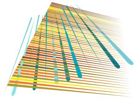 Grid, mesh with dynamic lines. Intersecting stripes. Irregular grating, lattice texture. Interlocking, criss-cross abstract geometric illustration Banco de Imagens - 130044466