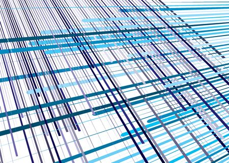 Grid, mesh with dynamic lines. Intersecting stripes. Irregular grating, lattice texture. Interlocking, criss-cross abstract geometric illustration Banco de Imagens - 130044495