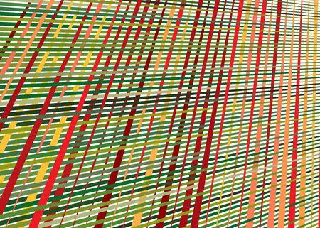 Grid, mesh with dynamic lines. Intersecting stripes. Irregular grating, lattice texture. Interlocking, criss-cross abstract geometric illustration Banco de Imagens - 130044498