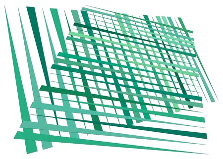Grid, mesh with dynamic lines. Intersecting stripes. Irregular grating, lattice texture. Interlocking, criss-cross abstract geometric illustration Banco de Imagens - 130044602