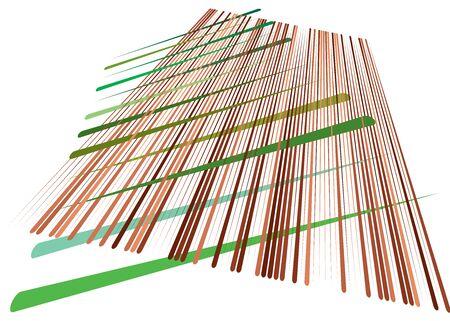 Grid, mesh with dynamic lines. Intersecting stripes. Irregular grating, lattice texture. Interlocking, criss-cross abstract geometric illustration Banco de Imagens - 130044609