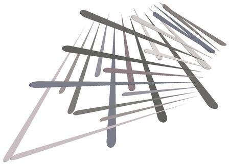 Grid, mesh with dynamic lines. Intersecting stripes. Irregular grating, lattice texture. Interlocking, criss-cross abstract geometric illustration Banco de Imagens - 130044633