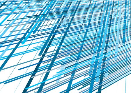 Grid, mesh with dynamic lines. Intersecting stripes. Irregular grating, lattice texture. Interlocking, criss-cross abstract geometric illustration Banco de Imagens - 130044677