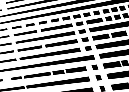 Grid, mesh with intermittent, dashed lines. Intersecting dynamic stripes. Irregular grating, lattice texture. Interlocking, criss-cross abstract geometric illustration