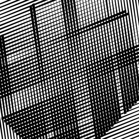 Grid, mesh of straight parallel lines Abstract lines background, texture. Black and white, monochrome geometric lines pattern