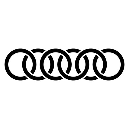 Abstract interlace, interweave geometric circle element. Intersecting, overlapping rings. Symbol for connection, link, joint concepts 向量圖像