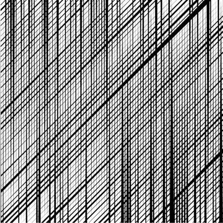 Skew, diagonal, oblique lines grid, mesh.Cellular, interlace background. Interlock, intersect traverse fractal lines.Dynamic bisect stripes abstract geometric pattern.Grating, trellis, lattice texture 일러스트