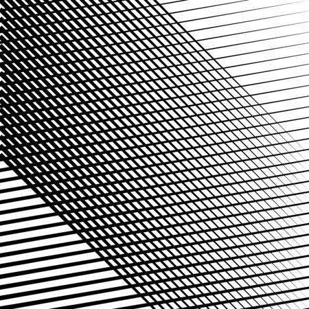 Skew, diagonal, oblique lines grid, mesh.Cellular, interlace background. Interlock, intersect traverse fractal lines.Dynamic bisect stripes abstract geometric pattern.Grating, trellis, lattice texture