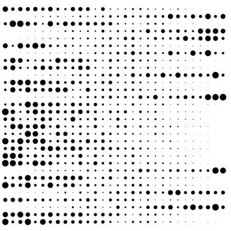 "Random dots, dotted lines. Stripes of circles half-tone illustration. Speckle, stipple pattern. Sporadic, erratic flecks, specks. Halftone pattern. Polka dots, screentone. Sprinkle, strew ""freckles"""