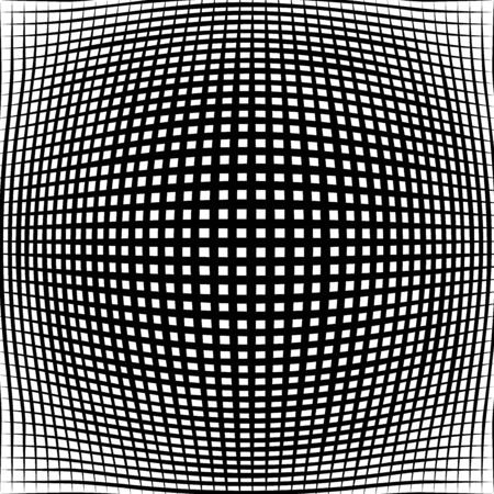 3D circular burst. Convex globe, sphere, orb distort. Inflate design pattern. Radiation, bulge, bloat effect. Radial, radiating warp. Bulb, relief protuberant graphics. Abstract dilate, curve texture Vetores