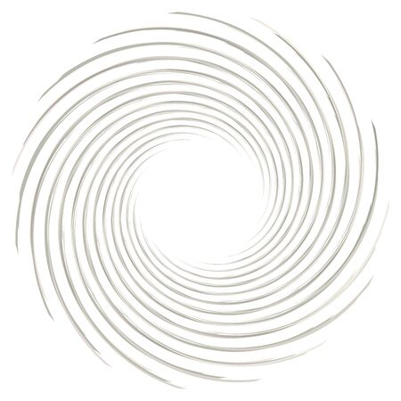 Abstract spiral, twist. Radial swirl, twirl curvy, wavy lines element. Circular, concentric loop pattern. Revolve, whirl design. Whirlwind, whirlpool illustration Иллюстрация