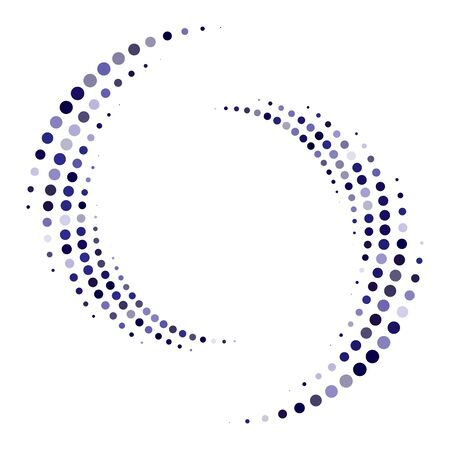 Dotted, dots, speckles abstract concentric circle. Spiral, swirl, twirl element.Circular and radial lines volute, helix.Segmented circle with rotation.Radiating arc lines.Cochlear, vortex illustration Reklamní fotografie - 130381826