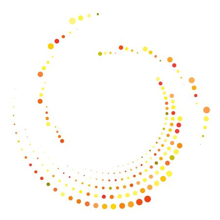 Dotted, dots, speckles abstract concentric circle. Spiral, swirl, twirl element.Circular and radial lines volute, helix.Segmented circle with rotation.Radiating arc lines.Cochlear, vortex illustration Reklamní fotografie - 130381939