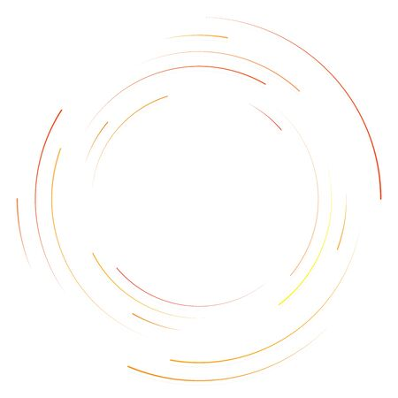 Abstract concentric circle. Spiral, swirl, twirl element. Circular and radial lines volute, helix. Segmented circle with rotation. Abstract radiating arc lines. Geometric cochlear, vortex illustration Reklamní fotografie - 130380979