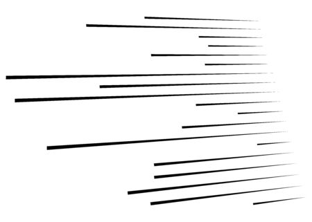 3D Abstract lines. Dynamic straight burst lines in perspective. Radial, radiating stripes. Rapid rays, beams in motion. Action, blast streaks, strips Illustration