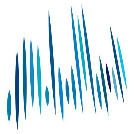 Lignes abstraites 3D. Lignes droites éclatées dynamiques en perspective. Rayures radiales et rayonnantes. Rayons rapides, faisceaux en mouvement. Action, stries d'explosion, bandes Vecteurs