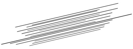 3D Abstract lines. Dynamic straight burst lines in perspective. Radial, radiating stripes. Rapid rays, beams in motion. Action, blast streaks, strips Ilustração