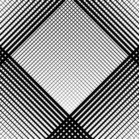Grid, mesh pattern, texture with dynamic, irregular lines. Intersecting stripes matrix, grating. Irregular trellis, lattice background
