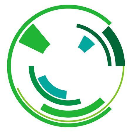 Geometric circle. Sci-fi, high-tech UI circular element Vektorgrafik