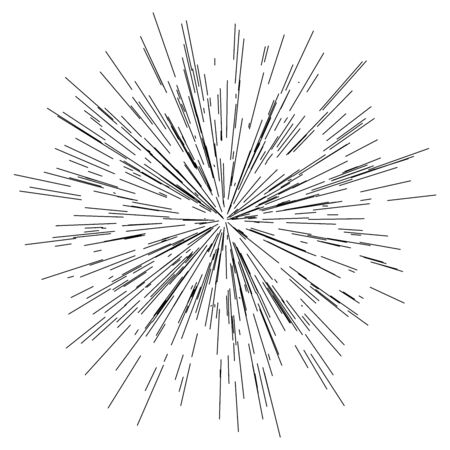 radial / radiating lines burst, explosion, blast effect Ilustração Vetorial