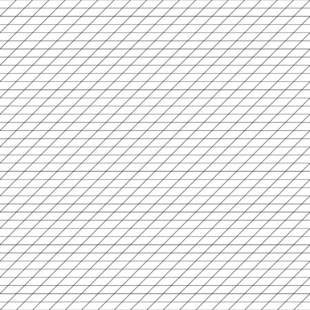 Diagonal, tilt, lean units grid, mesh, grating. Regular angle lines lattice pattern. Plotting, drafting, graph paper seamless repeatable pattern, texture. Intersected section, unit lines template. Rectangle, rectangular grid, mesh. Regular rulers, guidelines tileable texture