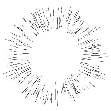 radial / radiating lines burst, explosion, blast effect