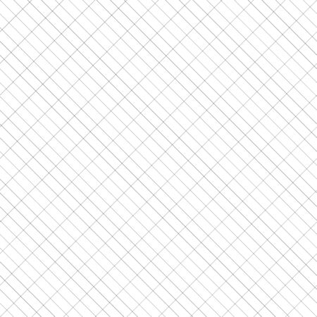 Diagonal and rectangular, rectangle grid, mesh, graphpaper. Draft, plot, planning, drawing paper seamlessly repeatable pattern, texture. Slanting, oblique, skewed, 45 degree regular lines grid, mesh Иллюстрация