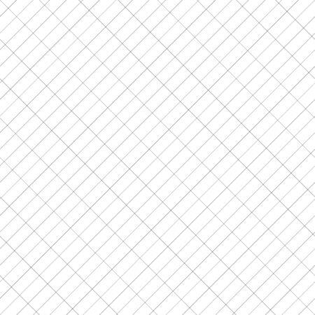 Diagonal and rectangular, rectangle grid, mesh, graphpaper. Draft, plot, planning, drawing paper seamlessly repeatable pattern, texture. Slanting, oblique, skewed, 45 degree regular lines grid, mesh Иллюстрация