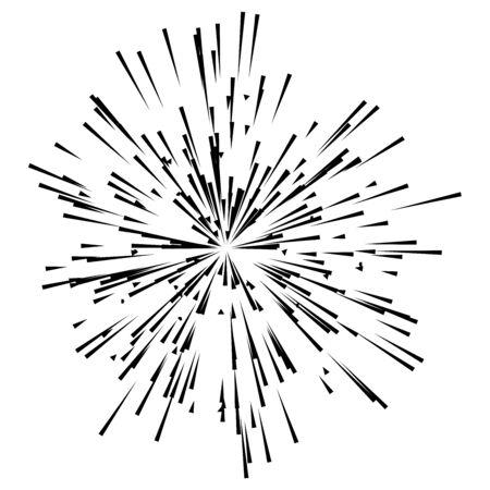 radial  radiating lines burst, explosion, blast effect