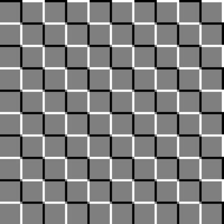 Offset squares seamless geometric pattern. Emboss, indent squares geometrical pattern. Op-art background texture