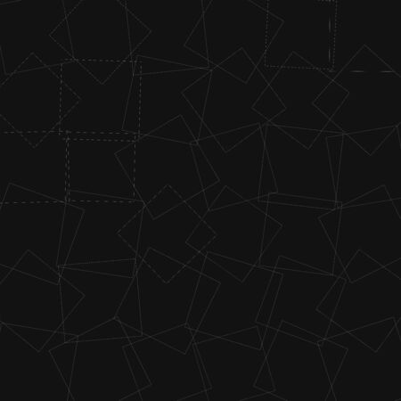Rectangular, angular pattern, texture with intersecting, overlapping thin lines of random squares