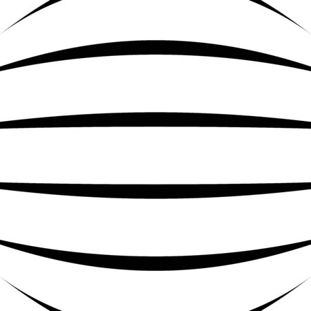 Spherical, globe circular distort effect pattern. Curved bulge, protrude warp effect. Convex globular, extrusion, bump deformation Çizim