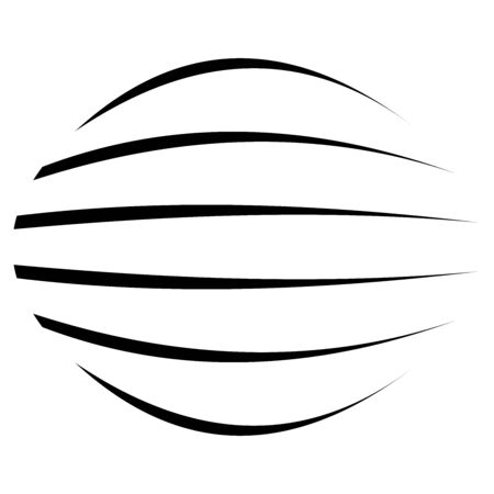 Spherical, globe circular distort effect pattern. Curved bulge, protrude warp effect. Convex globular, extrusion, bump deformation Illustration