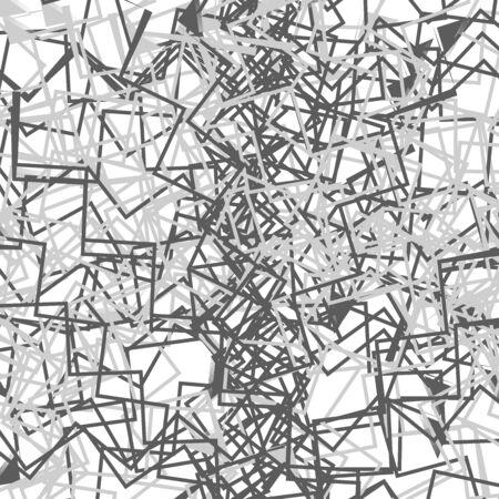 Grayscale  greyscale abstract art with deformation, distortion effect on random lines. Random, chaotic texture. Distress mix of lines. Complex geometric glitch, noise texture with irregular lines. Cluttered abstract greyscale texture, abstract greyscale pattern. Grayscale abstract art Stock Illustratie