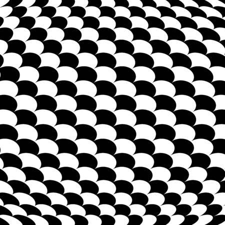 Spherical, globe circular distort effect pattern. Curved bulge, protrude warp effect. Convex globular, extrusion, bump deformation Illusztráció