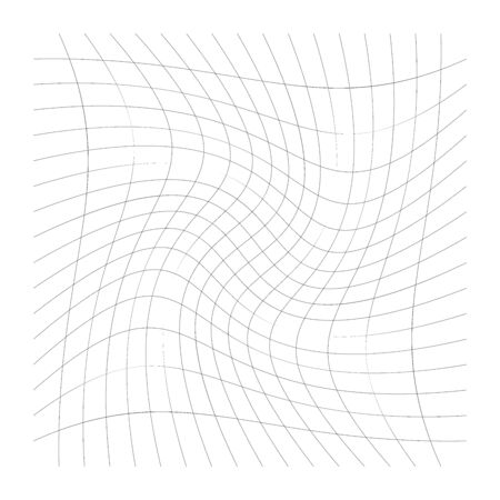 Intersecting lines mesh, grid with spirally, rotation, swirl, twirl effect