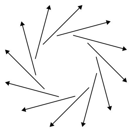 Circular arrows for cycle, repeat themes. Progress, process, procedure concept pointer design. Cyclical, spinning arrows Reklamní fotografie - 131157358