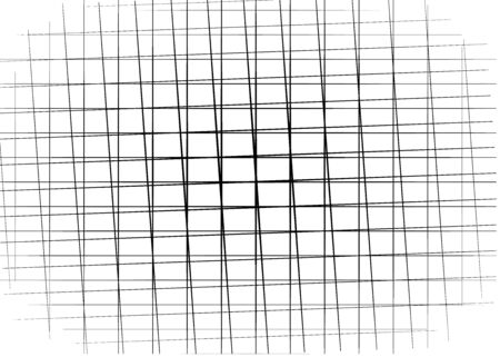 Random, irregular lines grid, mesh. Abstract geometric background, texture, pattern.