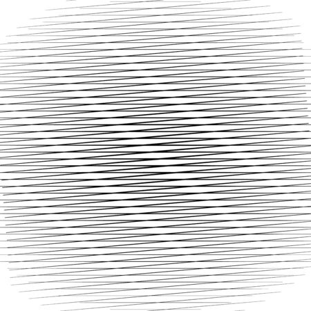 Abstract geometric pattern, texture of random, chaotic lines. Horizontal straight, parallel stripes background Çizim