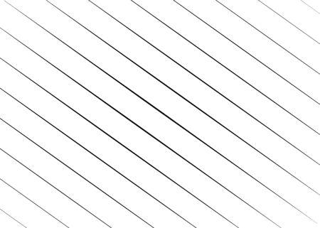 Rectangular diagonal, oblique lines, strips abstract, geometric pattern background. Slanting, slope lines halftone texture. Radial, radiating skew  tilt lines. Ilustração