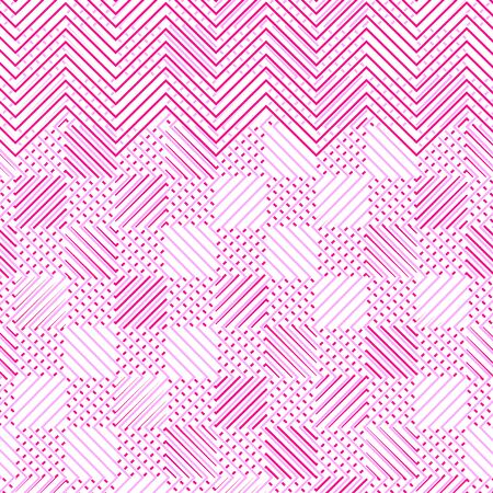 Duotone, 2-color dashed lines, speckle, sewing, diffuse geometric pattern. Dense wavy lattice, grid. Interweaved, interlocking lineal, linear mesh pattern. Texture of halftone like intersecting waving, zig-zag, curve lines, stripes. Colorful dashed crosshatch lines abstract pattern