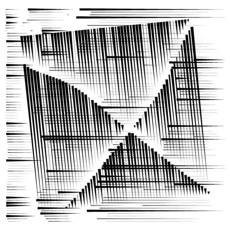 grid, mesh abstract geometric pattern. segmented intersect lines. crossing dynamic stripes texture. random dashed streaks lattice. abstract grating, trellis design Stock fotó - 131303276