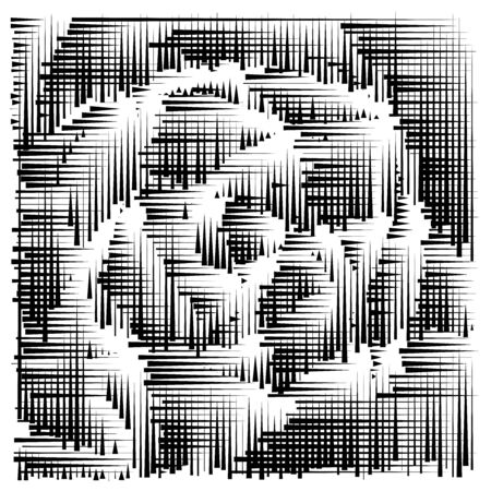 grid, mesh abstract geometric pattern. segmented intersect lines. crossing dynamic stripes texture. random dashed streaks lattice. abstract grating, trellis design Stock fotó - 131303193