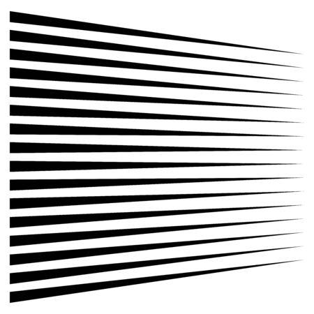Horizontale lijnen, strepen. Rechte parallelle strepen, stroken. Edgy krijtstreep geometrisch patroon. Lineair, lineair geometrisch ontwerp.