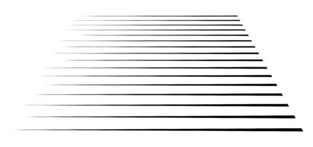 Horizontal, straight parallel lines in perspective. 3d lines, stripes pattern. Streaks, strips vanishing, diminish lines.