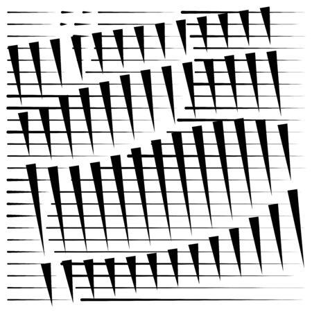 grid, mesh abstract geometric pattern. segmented intersect lines. crossing dynamic stripes texture. random dashed streaks lattice. abstract grating, trellis design Stock fotó - 131304023