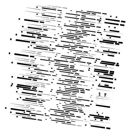 random segmented lines pattern. dynamic dashed, irregular stripes. abstract geometric design Illustration
