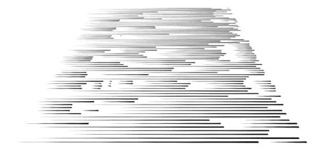 irregular lines in 3d perspective. segments stripes, streaks, strips pattern. chunks, pieces, fragments of thin lines. horizontal straight parallel stripes